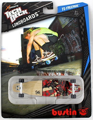 1 TECH DECK FINGERBOARD - LONGBOARD - BUSTIN - Red/Tan by Tech Deck - 1