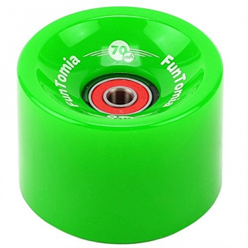 4 Stück FunTomia® Longboard/Skateboard Rollen (Big Wheels) in 70x51mm