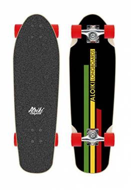 "Aloiki Jah Cruiser Skateboard 27.5"" Komplett - top mount - 1"