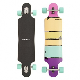 Apollo Twin-Tip Drop-Thru Longboard, Papeete Purple Colour, 99cm x 23,49cm - 1