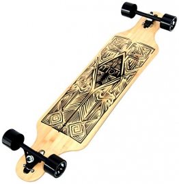 Atom Tiki Bamboo Drop Through Longboard - 40 inch (alte Version) - 1