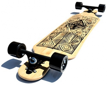 Atom Tiki Bamboo Drop Through Longboard – 40 inch (alte Version)