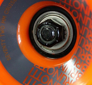 Brunotti Bob Longboard Twin Tip drop through Orange + Fantic26 Skatetool