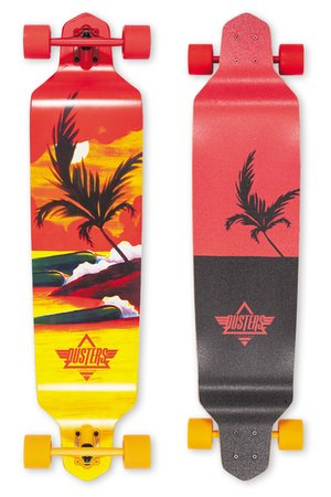 Dusters Thirds Red/Yellow Complete Longboard - 1