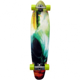 Earthship Longboard Hawaiian Style, green brown, 40.75'' x 9.75'', 105ES011 - 1