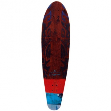 "Earthship Longboard Tribal, multicolor, 39"" x 10"", 105ES014"