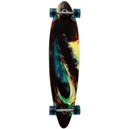 Earthship Longboard Unstainded Glass, wave, 42.5'' x 9.75'', 105ES005 - 1