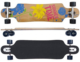 FLOWER Longboard 40 INCH in Racing Form 9 x Kanadisch Ahornholz NEU Skateboard - 1