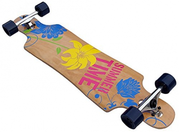 FLOWER Longboard 40 INCH in Racing Form 9 x Kanadisch Ahornholz NEU Skateboard