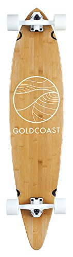 GoldCoast Longboard Classic Bamboo Pintail, One Size, COM-CB-44 - 1