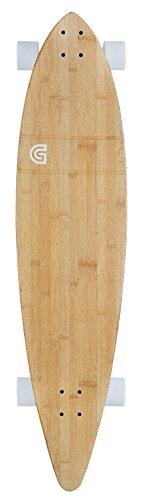 GoldCoast Longboard Classic Bamboo Pintail, One Size, COM-CB-44