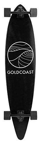 GoldCoast Longboard Classic Pintail, Black, One Size, COM-CLB-F44 - 1
