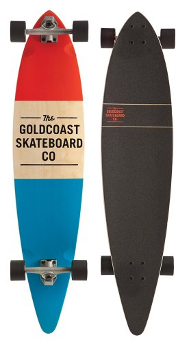 GoldCoast Longboard Standard, Red, One Size, COM-STDRED