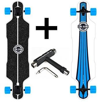 Long Island Longboard Urban Drop-Through Twin Tip + Fantic26 Skatetool - 1