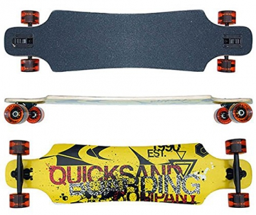 Longboard komplett Quicks drop through ABEC-9 Lager Skateboard 40 INCH 102cm - 1