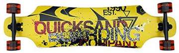 Longboard komplett Quicks drop through ABEC-9 Lager Skateboard 40 INCH 102cm