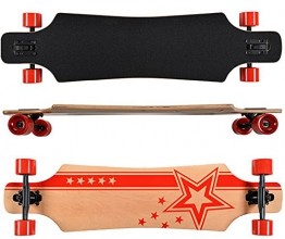 Longboard Racing Star red Board 102 cm lang ABEC-7 Kugellager Komplettboard Skateboard - 1