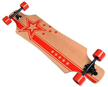 Longboard Racing Star red Board 102 cm lang ABEC-7 Kugellager Komplettboard Skateboard