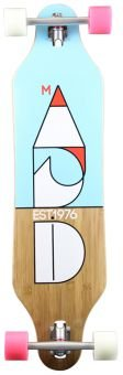 Madrid Longboard Missionary Cut Bamboo Drop-Thru 37.87 Stanard, One size, 7141-702558 - 1