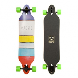 Madrid Twin-Tip Drop-Thru Longboard, Tombstone Paint Stripes, 38.375inch (97,47 cm), Komplettboard - 1