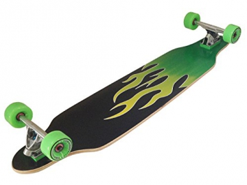 MAXOfit Deluxe Longboard Green Fire 9 Schichten Maple, 104 cm, or-19013