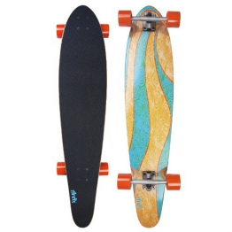 "My Area Longboard Board Blue Wave 42"" (101,7 cm x 22,8 cm) - neues Design 2014 - 1"