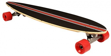 Nijdam Longboard Pintail Jungle Stripes, Anthrazit Rot Blau, 39 zoll, 1020488