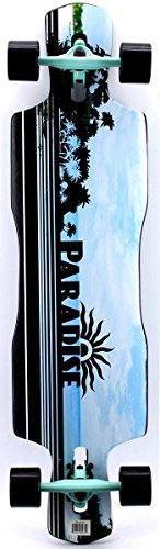 Paradise Black Ocean DropTrough Complete Longboard - 1