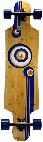 Paradise Bubbles Drop Through Bamboo Komplett Longboard Chilli24® Special Edition - 1
