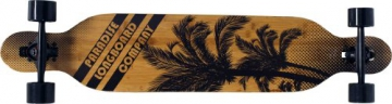 Paradise Longboard Brown Palms Drop Through, braun, 106.68 x 21.59 cm, 4250668958519 - 1