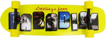 Paradise Longboard Greetings Kicktail, gelb, 91.44 x 22.86 cm, 4250668924279 - 1