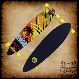 Paradise Longboard Sunset Sketch Pintail, orange, 95.25 x 26.04 cm, 4250668967214 - 1