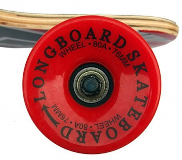 Racing Longboard rot Totenkopf 40 INCH Drop Through ABEC-9 Lager Big Wheels 76x52mm