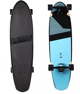 "RAM Longboard S/S15 Blacker Kicktail Cruiser 36"" 91,5cm x 24,8cm Infinity Blue - 1"