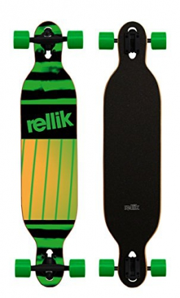 Rellik - Longboard Green Pattern Drop Throug - 1