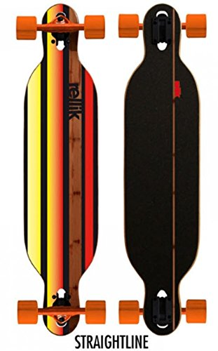 "Rellik Longboard Straightline bamboo Drop through twin Tip 38 x 8,5 "" - 1"