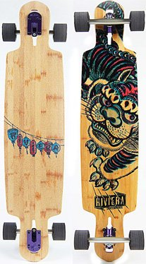 Riviera Longboard - kung Fu Kitty Drop Through - Complete - 1