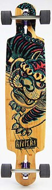 Riviera Longboard – kung Fu Kitty Drop Through – Complete