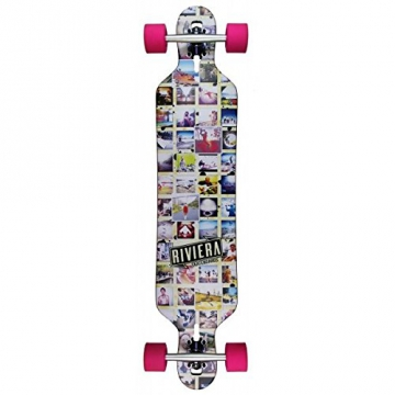 Riviera Mosaic Drop Through - Longboard (Silver / Purple Trucks) - 1
