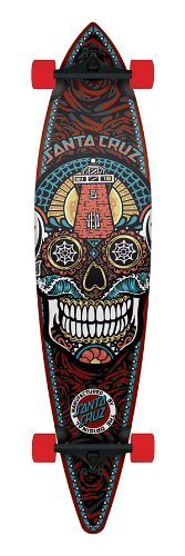 SANTA CRUZ LONGBOARD Skateboard SUGAR SKULL PINTAIL CRUISER 9.9 X 43.5 by NHS - 1