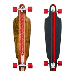 "Saterno Longboard 37"" Drop-Through Skateboard - 1"