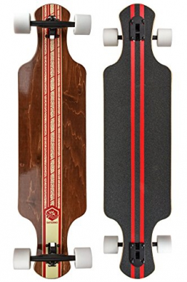 "Saterno Red Leaf Double Down Dark 9.8"" x 37"" Komplett Longboard - 1"