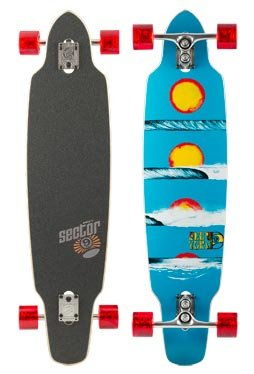Sector 9 Horizon Sidewinder Skateboard 39 x 9.25 blue