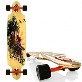 "Streetdevil 100% Bambus Allround Longboard/Skateboard ""Surfing Hawaii"" - 1"