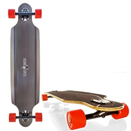 "Streetdevil 100% Bambus Downhill Dropthrough Carving/Freeride Longboard/Skateboard ""Carbon"" - 1"
