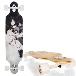 "Streetdevil 100% Bambus Downhill Dropthrough Carving/Freeride Longboard/Skateboard ""Manga"" - 1"