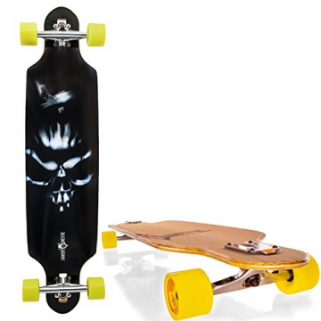 "Streetdevil 100% Bambus Downhill Dropthrough Carving/Freeride Longboard/Skateboard ""Monster"" - 1"