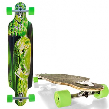 "Streetdevil 100% Bambus Downhill Dropthrough Carving/Freeride Longboard/Skateboard ""SNAKE"" - 1"
