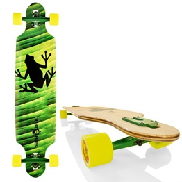 "Streetdevil Downhill Dropthrough Carving/Freeride Longboard/Skateboard ""Frog"" - 1"